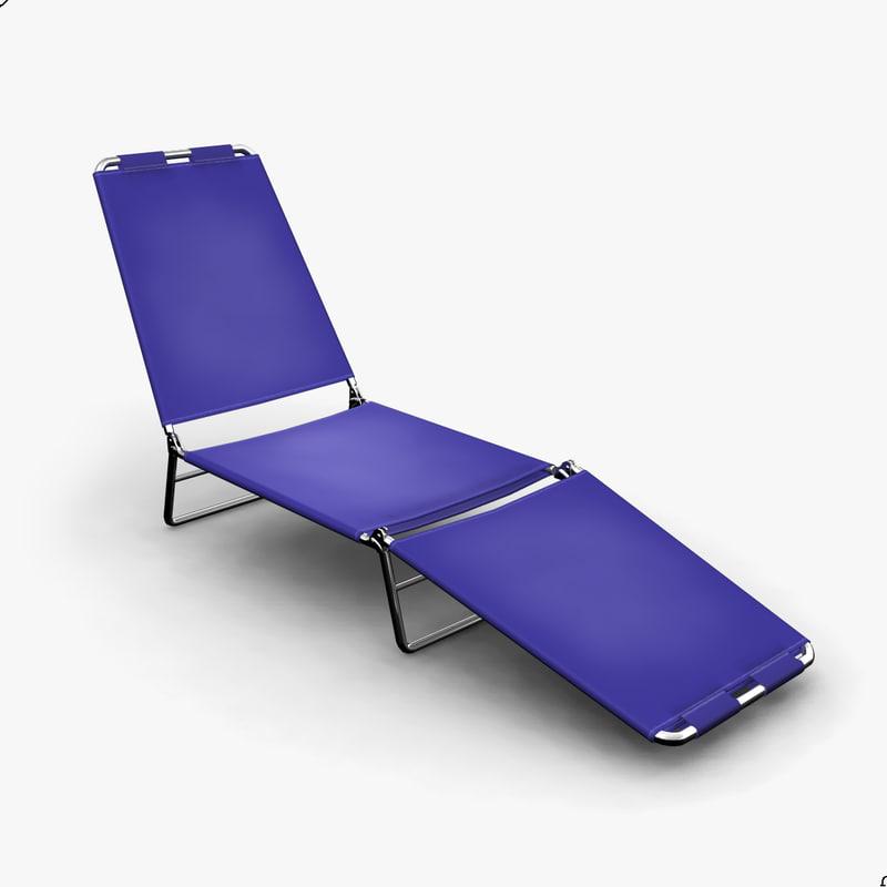 maya folding lounge chair