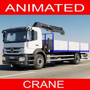 3d model of mercedes crane truck