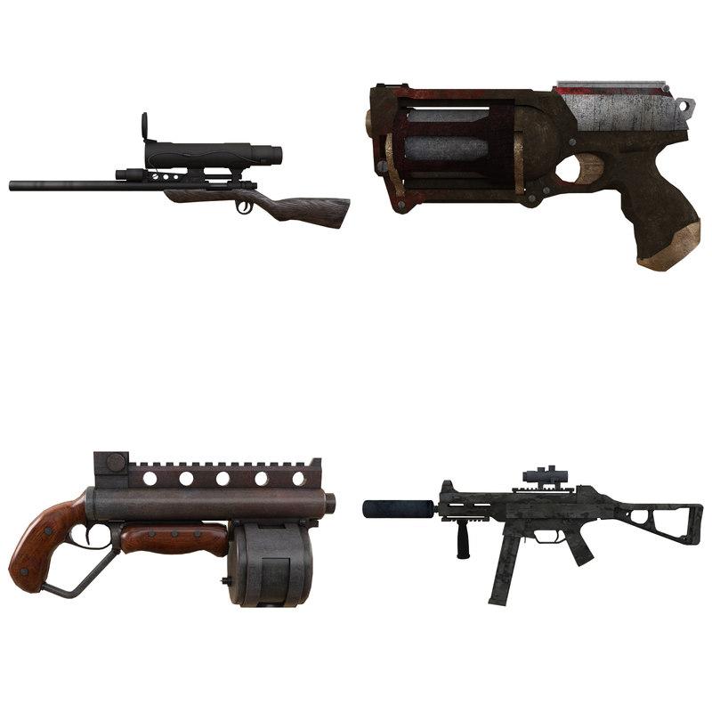 3d model weapon sniper