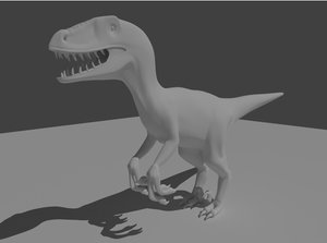 raptor velociraptor clay 3d x