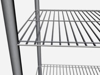 3d model of wire rack