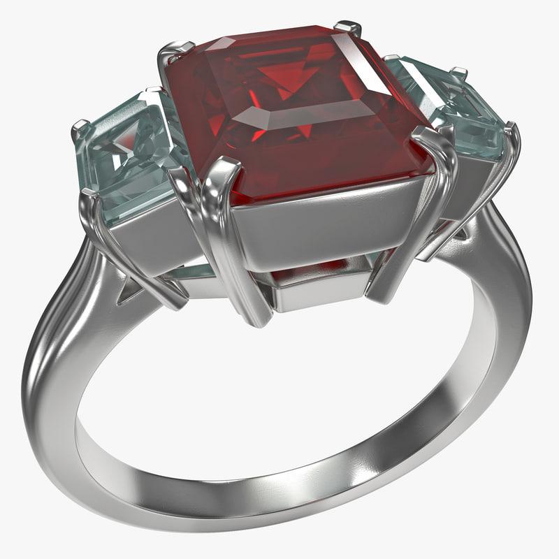 ruby ring 3d c4d