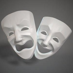 3d theatre face model