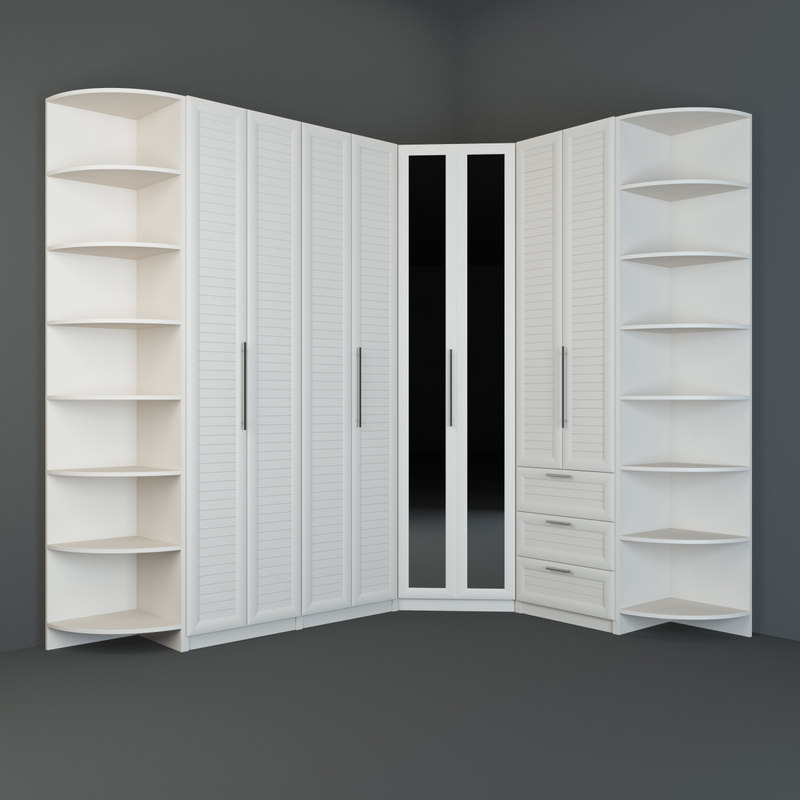 3d model angular wall unit