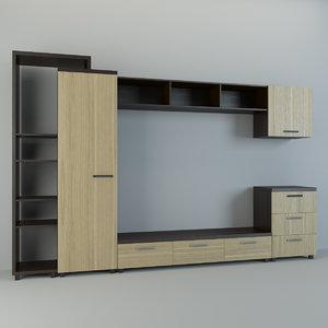 wall unit 3d model