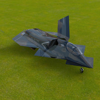 3d yf-23 phantom model