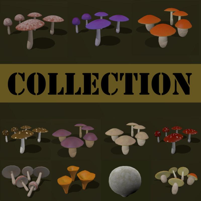 3d cartoon fungus mushroom boletus model