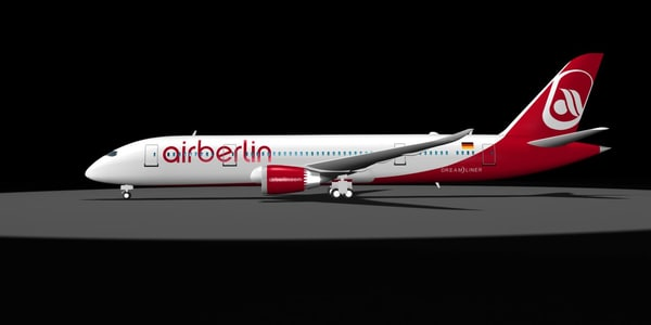 air berlin 787 dreamliner 3d model