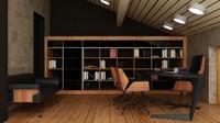 3d work room model