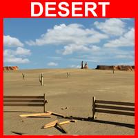 desert 3d c4d