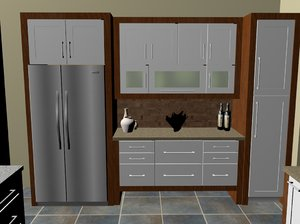 lower price kitchen 3d c4d
