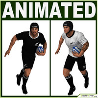 White Rugby Player CG