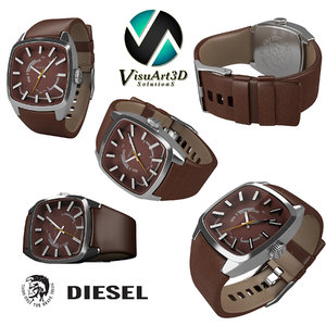 3d model diesel mens watches
