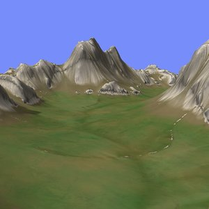 metay terrain km-02 3d model