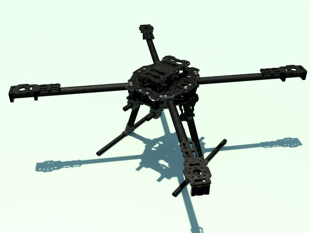 3d model of carbon fiber frame