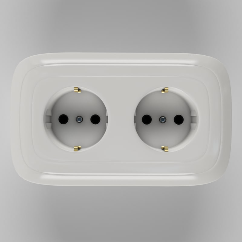 double plug socket 3ds