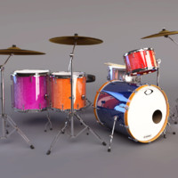 dollymix drumset 3d model