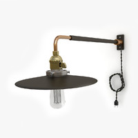 retro industrial lamp 04 3d 3ds