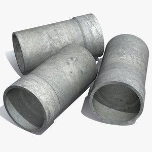 3d model concrete pipe
