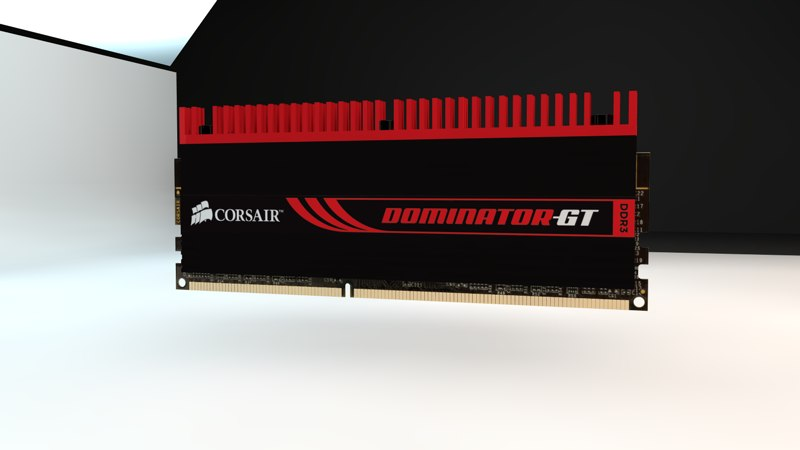 corsair dominator gt 6gb 3d model