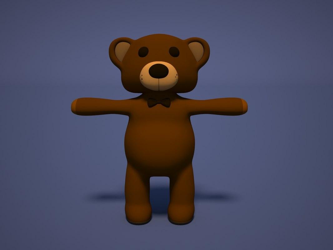 toy teddy bear 3d max