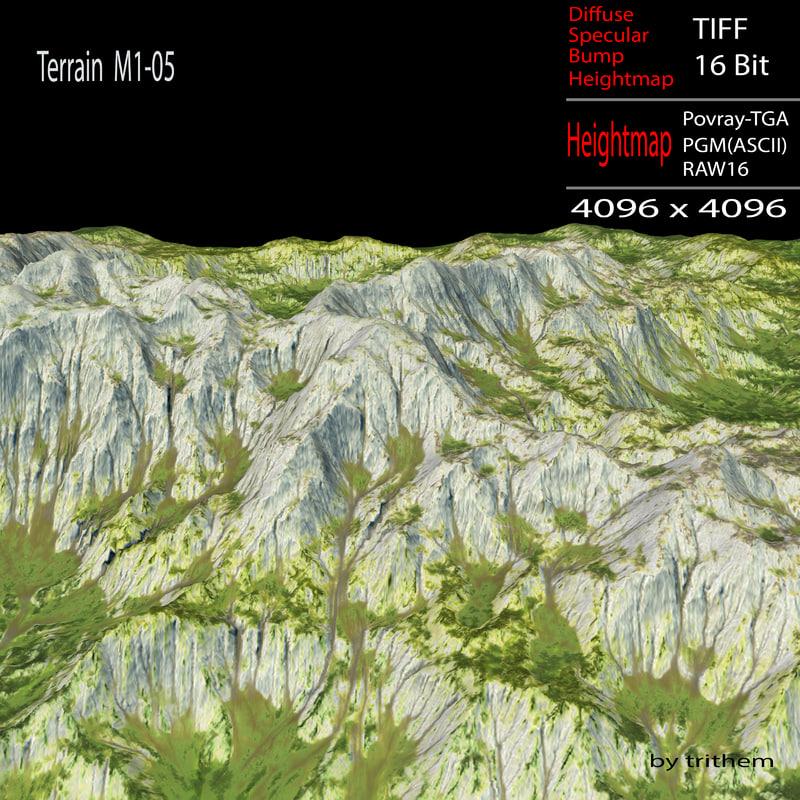 terrain m1-05 3d model