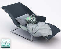 chaise blanket pillows 3d 3ds