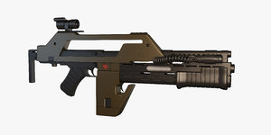 3d model pulse rifle m41a1