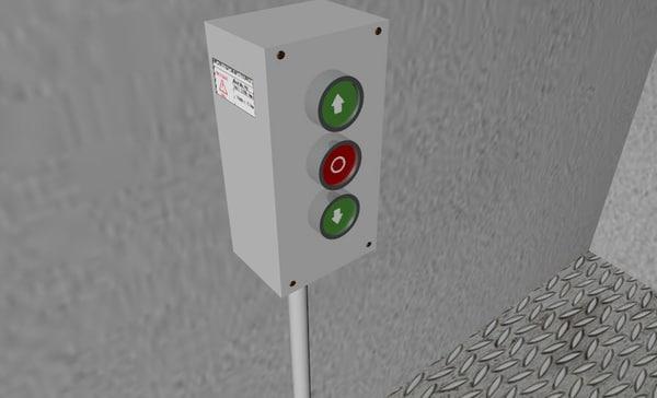 400 v button panel 3d 3ds