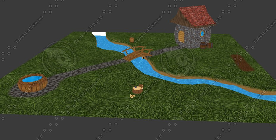 maya house village scene