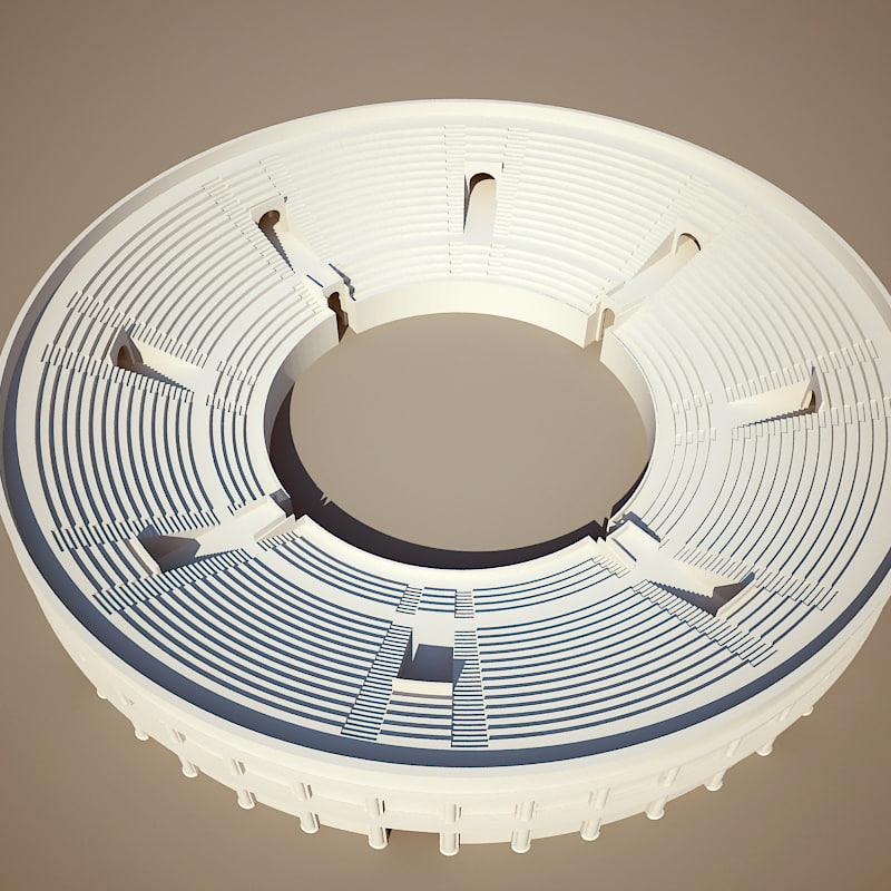 simple amphitheater 3d model
