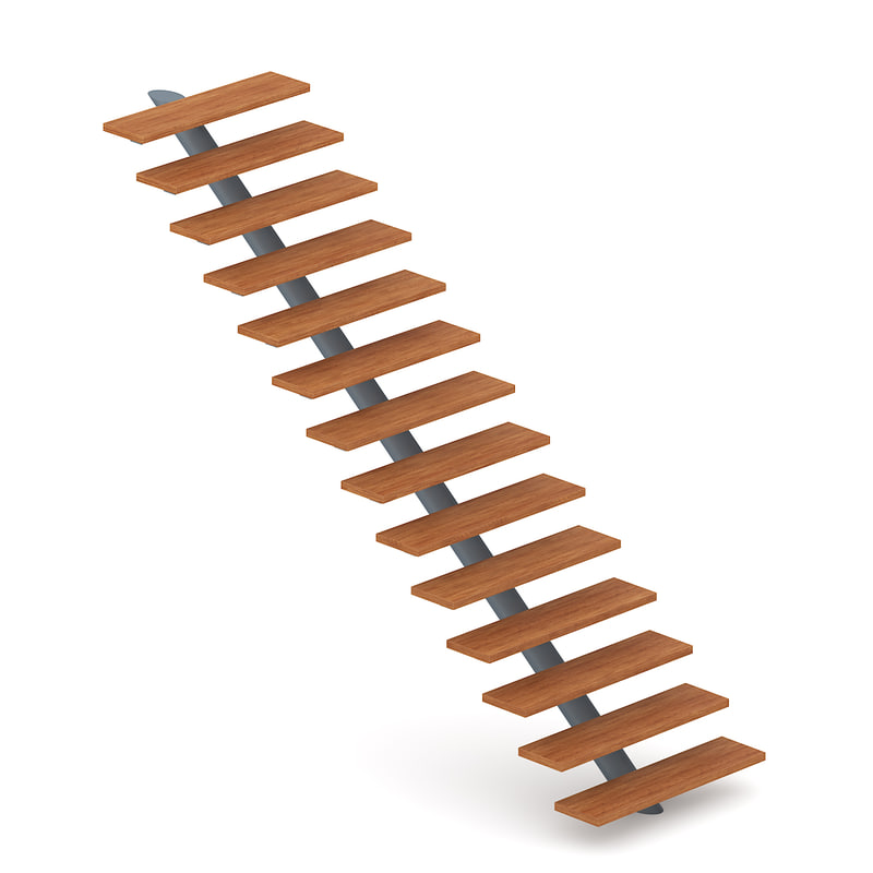 3d model wood wooden stairs