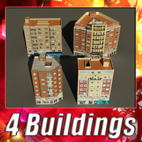 3dsmax building 77-80 collections