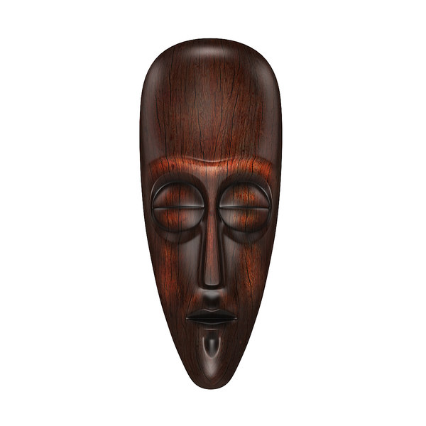 3d model african africa mask