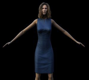 realistic woman 3d max