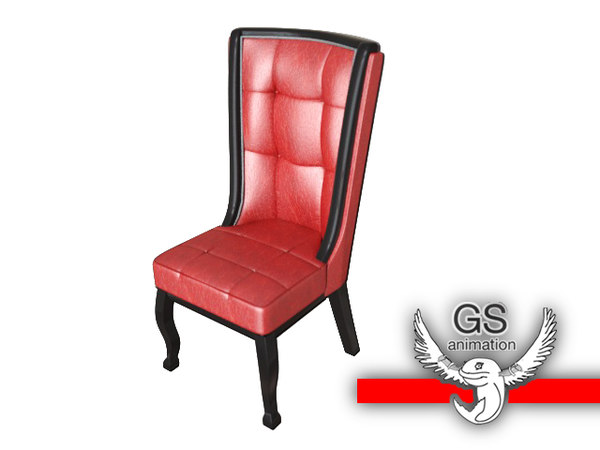 3d chair sophisticated model