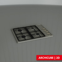 3ds max gas hob