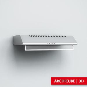 3d model kitchen hood