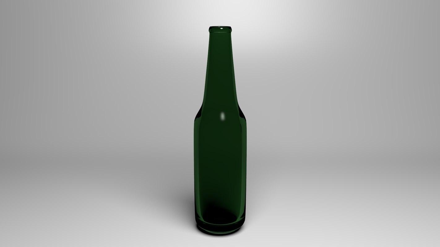 beer bottle 3d obj