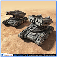 scifi army ground units 3d max