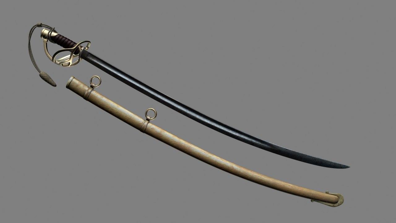 antique cavalry sword 3d max