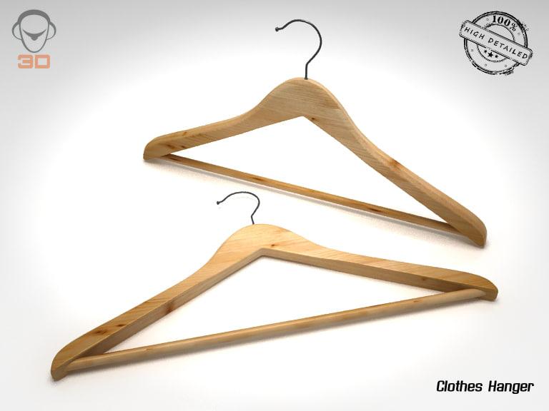 3d clothes hanger model