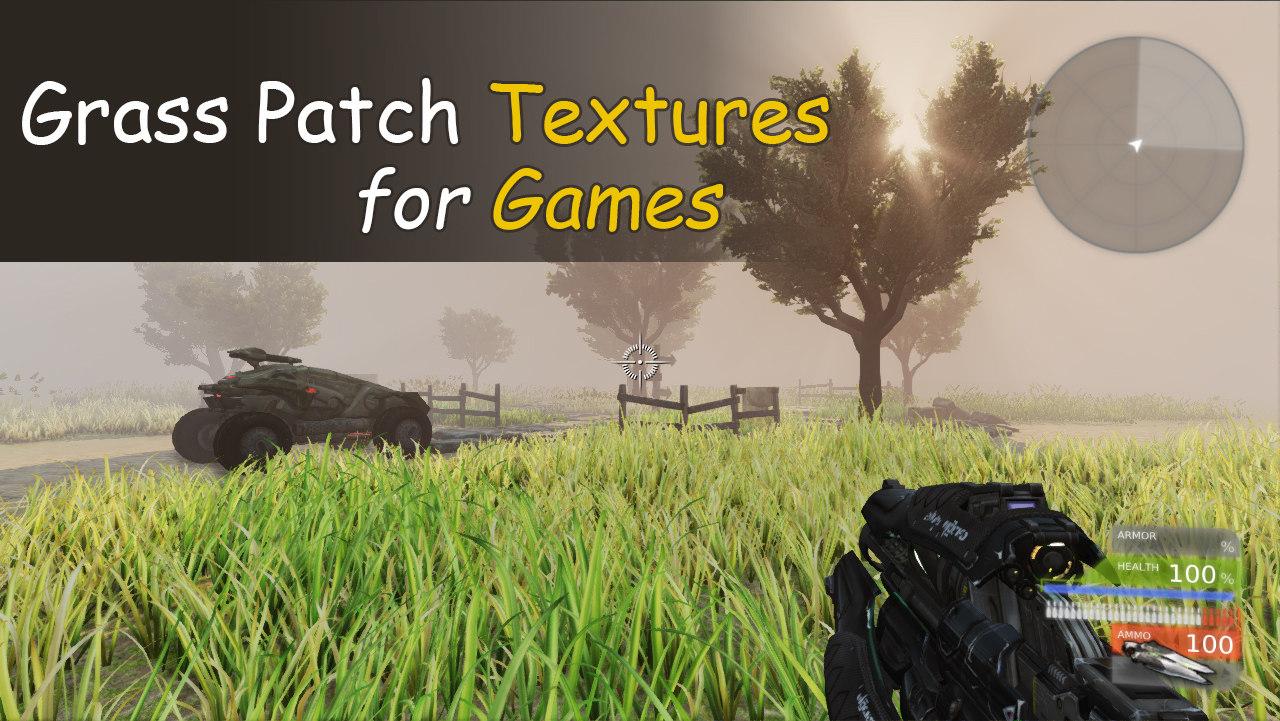 3d patch grass