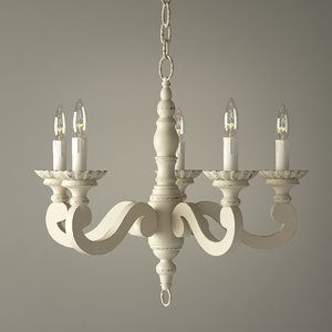 wood chandelier max