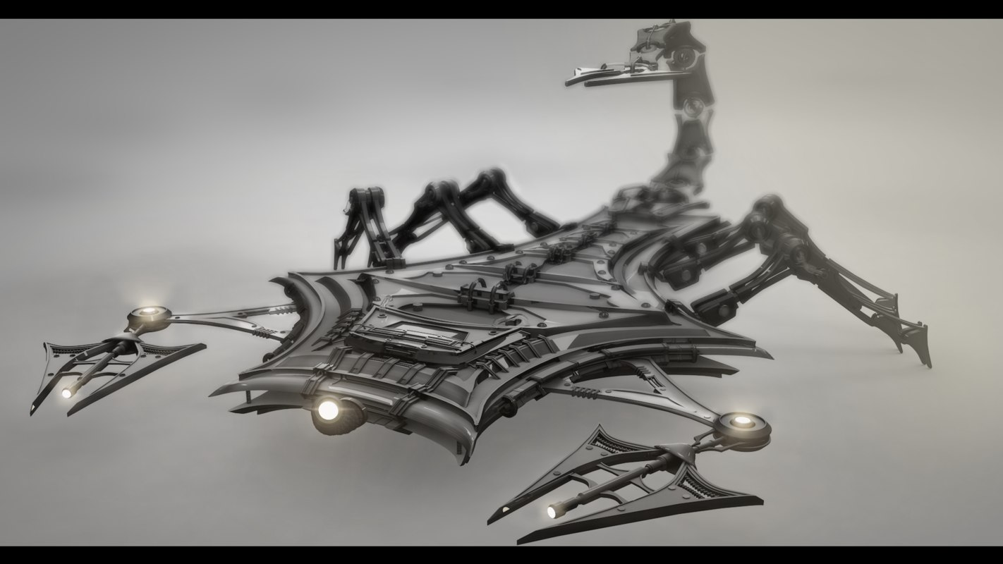 3d model robotic scorpion