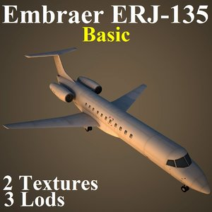 3d embraer basic model