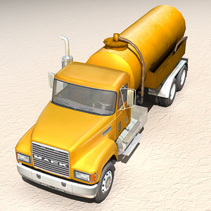 style tank truck 3d model