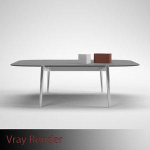 3ds max table board design