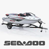 3d sea-doo speedster 200 trailer