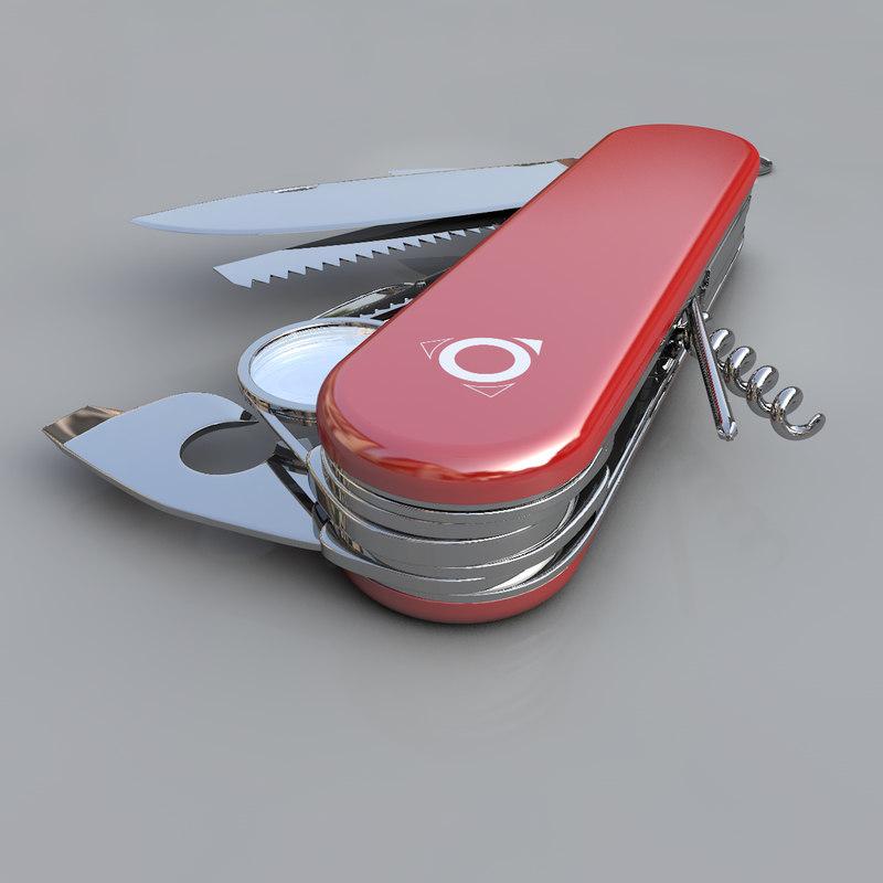 3d model of swiss knife